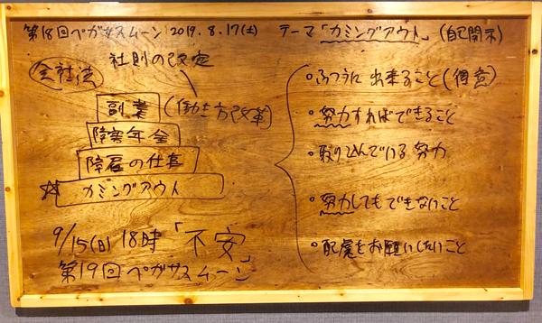 カミングアウト(自己開示)【第18回8/17雑感】家族・支援者会ペガサスムーン